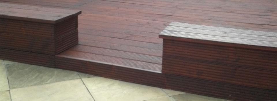Garden decking and seating